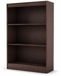 Axess Collection Shelf Bookcase in Chocolate [7259766-FS-SS]