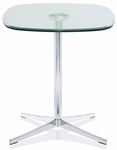 Axium 24'' Soft Corner Tempered Glass Table - 29''H [AX2424SH-DH-GL-FS-DV]