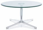Axium 36'' Round Tempered Glass Table - 17''H [AX36D-OH-GL-FS-DV]