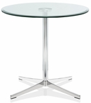 Axium 42'' Round Tempered Glass Table - 26''H [AX42D-LH-GL-FS-DV]