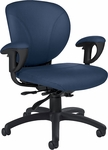Azeo Low Back Leather Task Chair with Arms and Casters - Grade 10 [2051L-6-GR10-FS-GLO]