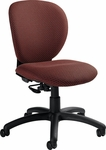 Azeo Medium Back Armless Task Chair with Casters - Grade 3 [2057-6-GR3-FS-GLO]