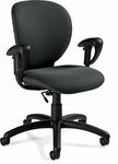 Azeo Low Back Task Chair with Arms and Casters - Grade 3 [2051-6-GR3-FS-GLO]
