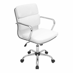 Bachelor Office Chair White [OFC-AC-BAC-W-FS-LUMI]