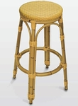 Backless Outdoor Barstool with Woven Seat [BAL-608-FLS]