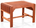 Solid Wood Outdoor 18''W x 26''D x 18''H Single Seat Backless Bench [V1398-FS-VIF]