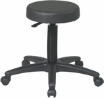 Work Smart Backless Vinyl Stool with Nylon Base and Casters - Black [ST215-FS-OS]