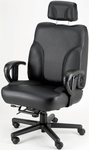 Backsaver Contoured Seat Office Chair with Adjustable Headrest- Fabric [OF-BACKSVR-F-FS-ARE]