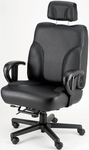 Backsaver Contoured Seat Office Chair with Adjustable Headrest - Leathermate [OF-BACKSVR-LLM-FS-ARE]