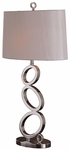 Skyline Balanced Metal Ovals 26.5''H Table Lamp with Oval Lamp Shade - Chrome [09T529-FS-PAS]
