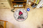 Ball State University Soccer Ball Mat 27'' Diameter [4290-FS-FAN]