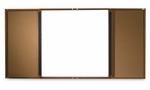 Balt Executive Conference Cabinet -withTackboard -36'' x 36'' -Mahogany [BLT45711-FS-SP]