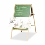 Balt Instructional Easel - Magnetic - Double -sided withOak Tray [BLT33583-FS-SP]