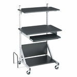 BALT® Totally Adjustable Mobile Sit-Stand Workstation - 30 x 24 x 52 - Black/Silver [BLT42551-FS-NAT]
