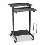 BALT® Web A/V Stand-Up Workstation - 34w x 31d x 44-1/2h - Black [BLT85052-FS-NAT]