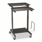 BALT® Web A/V Stand-Up Workstation,34''w x 31''d x 44-1/2''h,Black [BLT85052-FS-NAT]