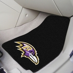 Baltimore Ravens Carpet Car Mat 2 Pc 18'' x 27'' [5675-FS-FAN]