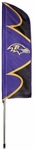 Baltimore Ravens Swooper Flag w/ Pole [SFBA-FS-PAI]