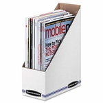 Bankers Box® Corrugated Cardboard Magazine File - 4 x 9 1/4 x 11 3/4 - White - 12/Carton [FEL10723-FS-NAT]
