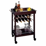 Bar Cart with Mirror Top [92329-FS-WWT]
