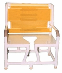 Bariatric Chair with Commode Opening and 700 lb Capacity - 34''W X 28''D X 43''H [130-C10-MJM]