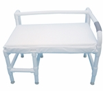 Bariatric Low Back Bath Seat with Cushion Seat - 38''W X 21''D [165-36-700-MJM]