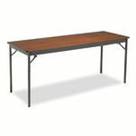 Barricks Special Size Folding Table,  Rectangular,  72''w x 24''d x 30''h,  Walnut [BRKCL2472WA-FS-NAT]
