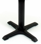 Cain 28''H X-Base Metal Table Leg for 30''W Table Tops - Black [MTBX22-FS-REG]
