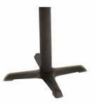 Cain 28''H X-Base Metal Table Leg for 36''W Table Tops - Black [MTBX30-FS-REG]