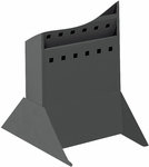 10'' W x 14'' D x 5.25'' H Steel Base for Magazine Rack - Black [4323BL-FS-SAF]