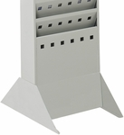 10'' W x 14'' D x 5.25'' H Steel Base for Magazine Rack - Gray [4323GR-FS-SAF]
