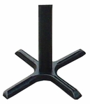 Cast Iron Table Base Set with Bar Stool Height Column - Black [BX22B-CRL]
