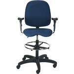 Cameron 27'' W x 48'' H Adjustable Height Mid-Back Task Stool - Black Base [PS-5964-2481-ST-FS-EOF]