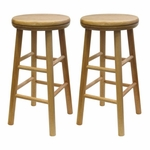 Basics 24''H Bar Stool-Set of 2 [88824-FS-WWT]