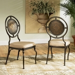 Basil Antique Brown Dining Side Chair - Set of 2 [364-434XT2-FS-PO]