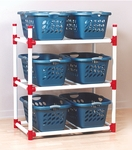 41''D X 24''W PVC Basket Rack with Locking Casters [BASKR-FS-DC]