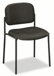 Basyx® VL606 Series Stacking Armless Guest Chair - Black Fabric [BSXVL606VA10-FS-NAT]