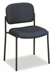 Basyx® VL606 Series Stacking Armless Guest Chair - Navy Fabric [BSXVL606VA90-FS-NAT]