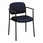 Basyx® VL616 Series Stacking Guest Chair with Arms - Navy Fabric [BSXVL616VA90-FS-NAT]