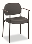 Basyx® VL616 Series Stacking Guest Chair with Arms - Charcoal Fabric [BSXVL616VA19-FS-NAT]