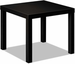 Basyx® BL Laminate Series Square Occasional Table - 24''W x 24''D x 20''H - Black [BSXBLH3170P-FS-NAT]