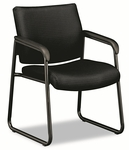 Basyx® VL443 Series Guest Chair with Black Fabric - Black Frame & Sled Base [BSXVL443VC10-FS-NAT]
