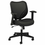 Basyx® VL551 Series Mid-Back Swivel/Tilt Chair - Fabric Seat - Mesh Back - Black [BSXVL551VB10-FS-NAT]
