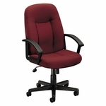 Basyx® VL601 Series Executive High-Back Swivel/Tilt Chair - Burgundy Fabric/Black Frame [BSXVL601VA62-FS-NAT]
