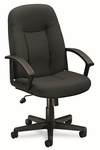 Basyx® VL601 Series Executive High-Back Swivel/Tilt Chair - Charcoal Fabric/Black Frame [BSXVL601VA19-FS-NAT]