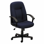 Basyx® VL601 Series Executive High-Back Swivel/Tilt Chair - Navy Fabric/Black Frame [BSXVL601VA90-FS-NAT]