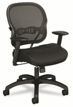 Basyx® VL712 Mid-Back Swivel/Tilt Work Chair,Black Mesh [BSXVL712MM10-FS-NAT]