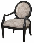 Batik Pearl Black Framed Chair [271-607-FS-PO]