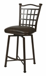 Bay Point 26'' Swivel Barstool - Autumn Rust Finish and Florentine Coffee Upholstery [BP-219-26-AR-649-FS-PSTL]