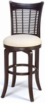 Bayberry Wood 30'' Bar Height Stool with Cream Colored Swivel Seat - Dark Cherry [4783-830-FS-HILL]